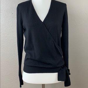 Ann Taylor 100% merino wool faux wrap sweater